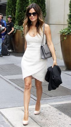 Fabulous Chanel white dress. Need this in my closet!!! Urgently