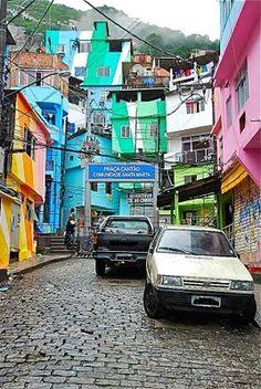 Favela art in Rio de Janeiro, Brazil