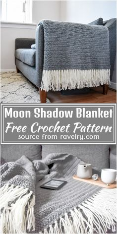 Crochet Home, Crochet Crafts, Crochet Yarn, Crochet Projects, All Free Crochet, Afghan Crochet Patterns, Modern Crochet Blanket, Crotchet Blanket, Crochet Throw Pattern