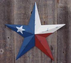 "Heavy Duty Metal Star 10"" Painted Rustic Texas Flag. These Metal Stars Add a Touch of Country to Your Home Decor. You Will Not Be Disappointed with the Quality and Workmanship on These Stars. They Are Handcrafted Out of 22 Gauge Galvanized Steel and Will Not Rust. Add a Barnstar to Your Home Decor Today., http://www.amazon.com/dp/B0086ARWAM/ref=cm_sw_r_pi_awdm_GEoQub1TEGD1D"