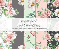 Watercolor Flowers, Watercolor Paper, Bible Verse Canvas, Floral Texture, Free Advertising, Print Templates, Repeating Patterns, Planner Stickers, Party Invitations
