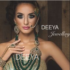 This beautiful jade green high quality polki set. The beadwork is exquisite. The necklace set will look stunning worn as a bridal piece or as a statement necklace on its own. It looks gorgeous worn at a wedding function or as part of a full bridal set or just on its own.   Contact Deeya Jewellery by calling, Whatsapp or viber to purchase or enquire on 00447545228167.