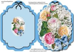 Print Cut and fold Beautiful Mixed roses  on Craftsuprint - Add To Basket!