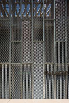 Auditorium and Congress Center Expo design interior design Metal Facade, Metal Screen, Metal Panels, Arch Building, Expanded Metal, Timber Panelling, Modern Garden Design, Factory Design, Garage Design