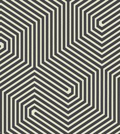 Interior Trends, Monochrome & Geometric | Labyrinth Wallpaper by Cole & Son | Jane Clayton