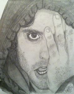 Jared Leto  .7 mechanical pencil, 9b woodless graphite  2 hours 15 minutes of work