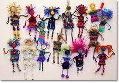 Fiber Art Now… abstract weaving contemporary textile art wall hanging Pin Weaving, Weaving For Kids, Weaving Art, Yarn Crafts, Diy Crafts, Art Du Fil, Worry Dolls, Weaving Textiles, Weaving Projects