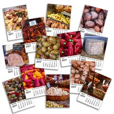 2017 Food Calendar 5x7 Desk Calendar 5 x 7 by BambersImages