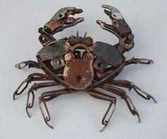 Padlock Crab‐Found Object Steel‐Harriet Mead