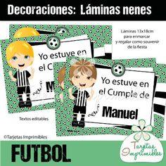 Lámina para nenes FUTBOL Blanco y negro