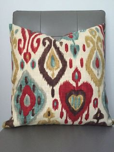 Pillow Cover  Throw Pillow Decorative Pillow by CatandLuDesigns