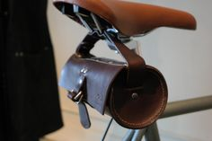Leather Bicycle Pouch by ommleather on Etsy