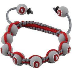 Ohio State Buckeyes Ladies Beaded Bracelet - Gray