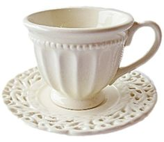 "$25.99 Set of 4 ""Battenburg"" IVORY Demitasse Cups & Saucers - Perfect for Tea Parties  From The Queen's Treasures   Get it here: http://astore.amazon.com/ffiilliipp-20/detail/B005JD3AQY/181-7017119-1159029"