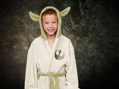 Yoda badekåpe til barn. Offisielt fra Star Wars. Badekåpe i bomull.