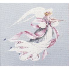Lavender and Lace Angel of Spring cross stitch