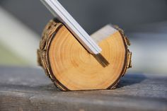 elm natural wood business card holder by thewoodlot on Etsy