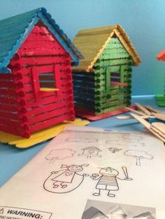 vogelhaus aus streichh lzern basteln vogel ideen pinterest streichh lzer vogelh user und. Black Bedroom Furniture Sets. Home Design Ideas