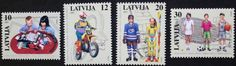 Children s leisure pursuits stamps, 1997 basketball Latvia, SG ref: 473-476, MNH