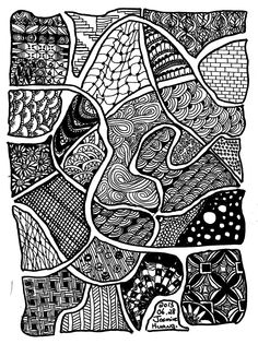 Eight Coloring Bookmarks With Abstract Patterns Coloring