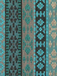 Turquoise Stripe Ikat Upholstery Fabric by the by PopDecorFabrics, $64.00