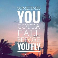 Sometimes YOU gotta Fall before YOU fly .....