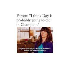 Don't die Day!!!!!!!!! PLLLEEEEAAASSSEEE DON'T DIE!!!!