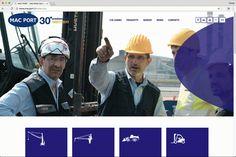 Realizzazione interfaccia grafica  cliente: Macport – Macchine Portuali art direction: Agenzia Image, Ravenna