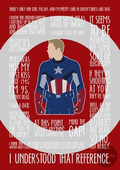 Captain America / The First Avenger quote poster by MacGuffin Designs http://www.etsy.com/uk/listing/120573988/captain-america-poster-made-to-order http://society6.com/britishindie/the-first-avenger-gxp_print