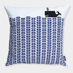 Whale Cushion Cover - soft furnishings