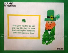 Footprint Leprechaun & St Patrick's Day Saying