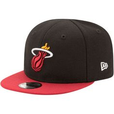 Miami Heat New Era Infant My 1st 9FIFTY Snapback Adjustable Hat - Black Red  Nba 9bbf629a6a6