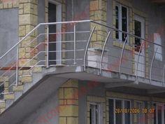 Balustrade Inox cu montanti deviati | 0720.484.274 Diverse modele de balustrade din inox pe InoxConstanta.ro Balustrade Inox, Stairs, Home Decor, Stairway, Decoration Home, Room Decor, Staircases, Home Interior Design, Ladders