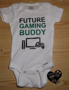 Future Gaming Buddy Custom Onesie Gamer Baby by CustomGiftsbyKB