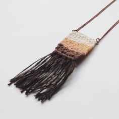 woven pendant necklace by ellen bruxvoort