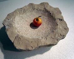 rustic stone fruit bowl  -www.charleyworks.com