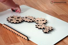 Magnetic Gear Toy  Turn to Learn by StevenMatternDesign on Etsy