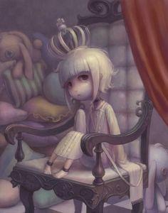 玉座   代用うおのめ   #art #illustration #manga #anime #character #throne #crown