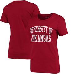 Arkansas Razorbacks Champion Women's University T-Shirt - Cardinal