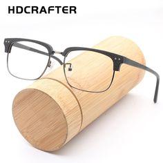 75e5c2d2a4 HDCRAFTER Vintage Optical Glasses Frame Wood Clear Glasses Natural Wooden  Prescription Myopia Hyperopia Eyeglasses Frames