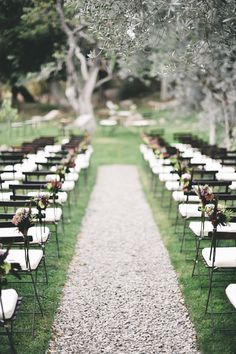 Sweet and simple ceremony site via Style Me Pretty. Photo by Lisa Poggi Photography