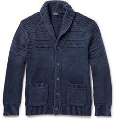 Polo Ralph Lauren Textured Cotton Shawl-Collar Cardigan