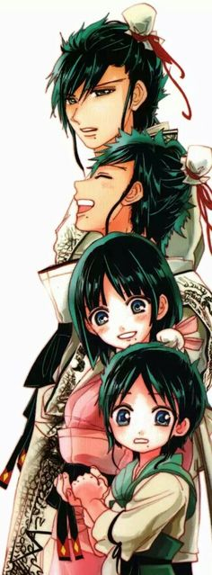 Hakaryuu's family, without the mother!