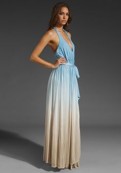Ombre colored dress