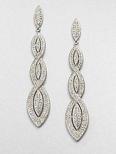 Adriana Orsini - Pavé Braided Drop Earrings