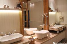 banheiro bebê adaptado mãe deficiente visual