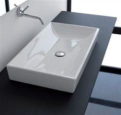 Vasque à poser / rectangulaire / en porcelaine A1 Ceramic Vulcano