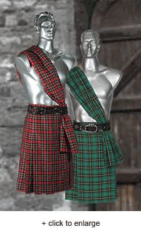 Scottish Tartan Kilt - renaissance costume clothing medieval $75