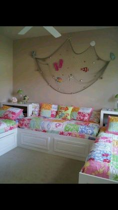 Cute and space saving girls room