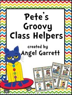 Thank you to my followers and all my groovy friends. You all have blessed me so very much! Enjoy! This Groovy Classroom Jobs Set is a perfect way to manage your students' classroom responsibilities. Simply print, cut, and laminate. Then place in a pocket chart or add magnetic tape and hang on a magnetic surface.Jobs Included are : Librarian, Clean Up Helper, Bathroom Monitor, Door Holder, Electrician, Line Leader, Computer Helper, Sweeper, Caboose, Table Washer, Messe...
